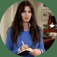 Anne Hathaway Onboarding The Devil Wears Prada