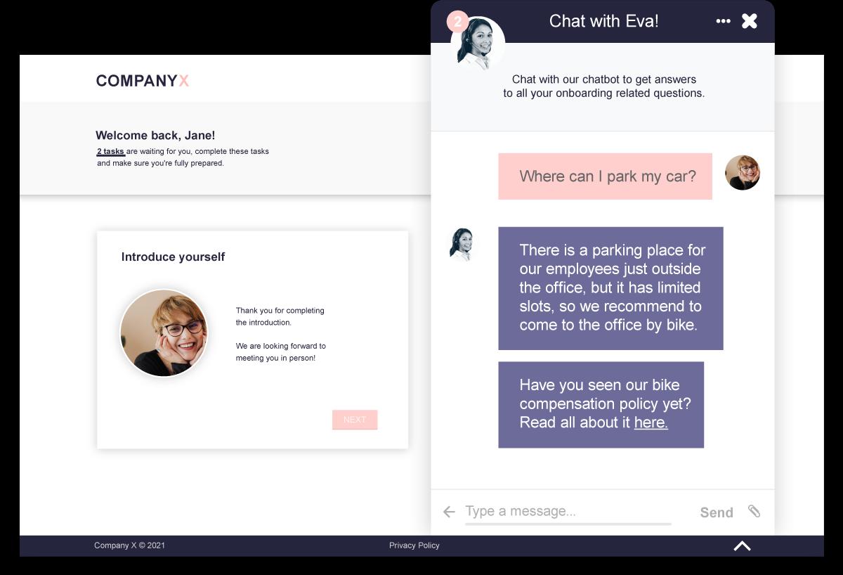 Onboarding-process-template-desktop-chatbot